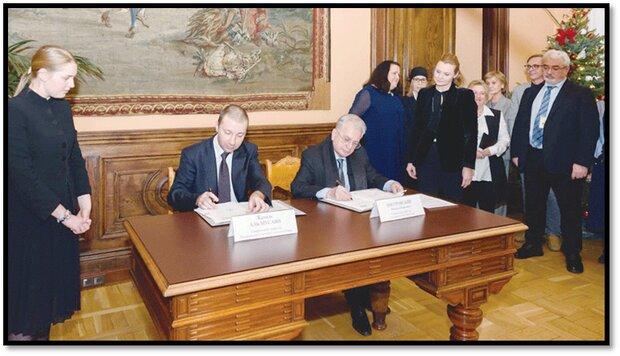 امضای موافقتنامه همکاری میان موزه ملی عمان و آرمیتاژ روسیه